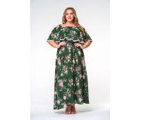 Пляжные платья больших размеров для полных женщин платья для полных женщин зеленого цвета