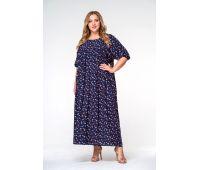 Платья с рукавом 1/2 больших размеров для полных женщин платья с крупным цветочным принтом для полных