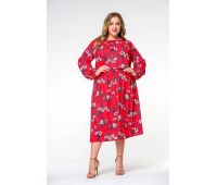 Платья ниже колена больших размеров для полных женщин красивое красное платье для полных