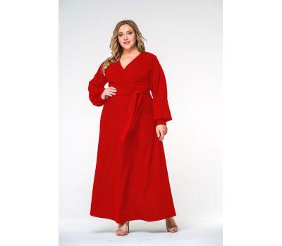 вечерние красные платья для полных женщин