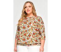 Летние блузки больших размеров для полных женщин блузы с коротким рукавом больших размеров