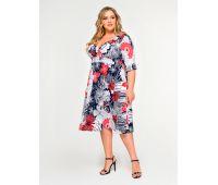 цветами платье большой размер