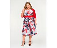 платья с цветочным рисунком на полных