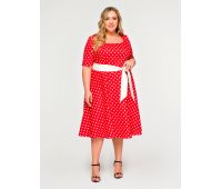 Красные платья больших размеров для полных женщин красное платье в пол для полных девушек