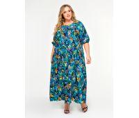 Платья с рукавом 1/2 больших размеров для полных женщин летнее платье с цветочным принтом для полных