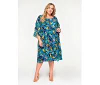 Платья по составу ткани 67% полиэстер, 30 % вискоза, 3% эластан больших размеров для полных женщин платье в цветок для полных