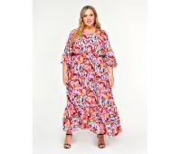 длинные платья из штапеля для полных