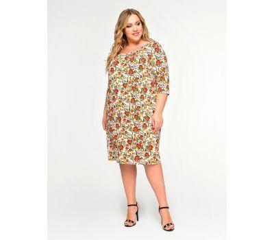 платья с крупным цветочным принтом для полных