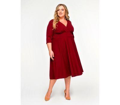 бордовые платья для полных женщин