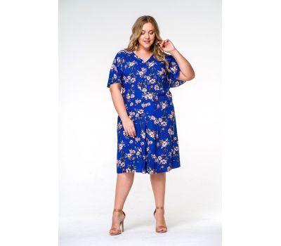 платья для полных женщин из ткани в цветок