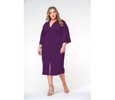 Фиолетовые платье  больших размеров