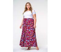 Юбки миди больших размеров для полных женщин юбки макси больших размеров