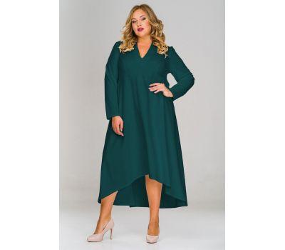 вечернее платье зеленое для полных женщин