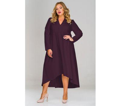 вечерние фиолетовые платья для полных