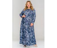 Полуприлегающие платья больших размеров для полных женщин длинные синие платья для полных женщин