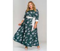 Платья по составу ткани 67% полиэстер, 30 % вискоза, 3% эластан больших размеров для полных женщин платья зеленые длинные больших размеров