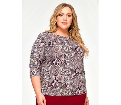 блузка с коротким рукавом для полных женщин