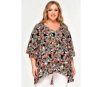Платья летние туники больших размеров туника для полных женщин на лето с принтами