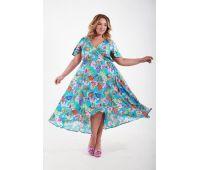 Платья по составу ткани больших размеров для полных женщин голубое платье в пол для полных