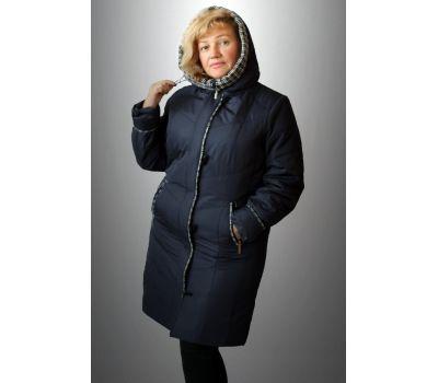 пальто осенне-зимнее с отделкой из драпа для полных