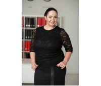 Блуза кружевная черная