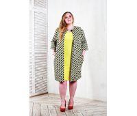 Куртки больших размеров для полных женщин пальто летнее из принтованного хлопка для полных