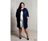Плащи больших размеров для полных женщин пальто летнее из жаккарда больших размеров
