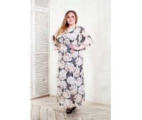 Платья по составу ткани 67% полиэстер, 30 % вискоза, 3% эластан больших размеров для полных женщин легкое платье для пляжа для полных