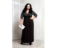 Платья с рукавом 3/4 больших размеров для полных женщин классическое черное платье для полных