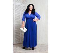 синее прямое платье для полных
