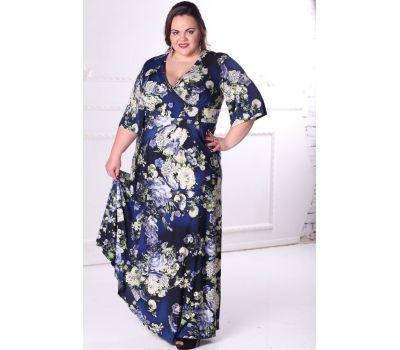 Купить платья больших размеров 52, 54, 56, 58, 60, 62, 64, 66, 68, 70, 72, 72 длинное с широким рукавом