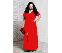 Платья по составу ткани больших размеров для полных женщин красное длинное платье для полных