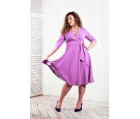 Платья по составу ткани больших размеров для полных женщин вечернее фиолетовое платье для полной женщины