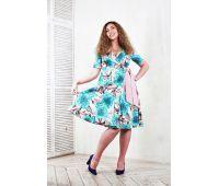 Платья 48 размера для женщин голубые платья больших размеров