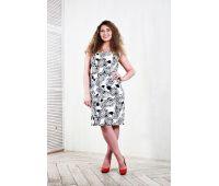 Платья по составу ткани больших размеров для полных женщин белое повседневное платье для полных