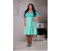 Платья по составу ткани больших размеров для полных женщин большие бирюзовые платья