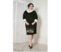 Стильные платья больших размеров для полных женщин деловое черное платье для полных женщин