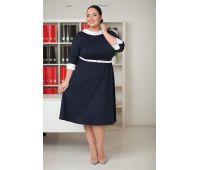Платья по случаю больших размеров для полных женщин короткие платья на полных с бантом