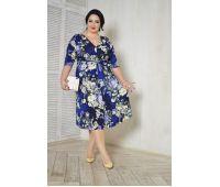 Платья по составу ткани больших размеров для полных женщин длинное платье с цветочным принтом большого размера