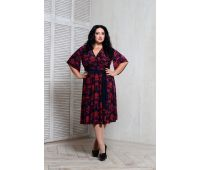 Платья по составу ткани 67% полиэстер, 25 % вискоза, 3% эластан больших размеров для полных женщин повседневное черное платье для полных