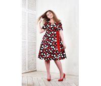 Платья ниже колена больших размеров для полных женщин летние платья из гороха для полных