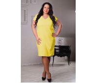 Платья по составу ткани больших размеров для полных женщин желтое платье футляр для полных
