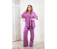 Повседневные туники больших размеров для полных женщин туники для полных дам фиолетового цвета