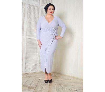 Платье вечернее с драпировкой жемчужное