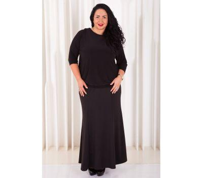 длинная юбка в пол для полных